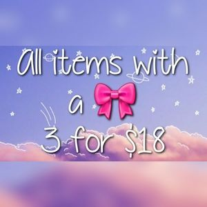 3 for $18 Bundle Deal
